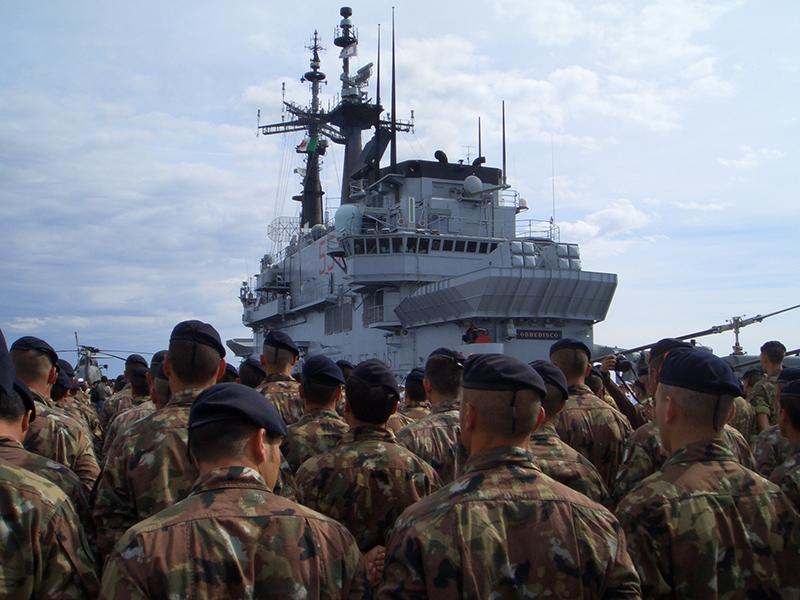 I militari del Reggimento San Marco e i lagunari del Serenissima