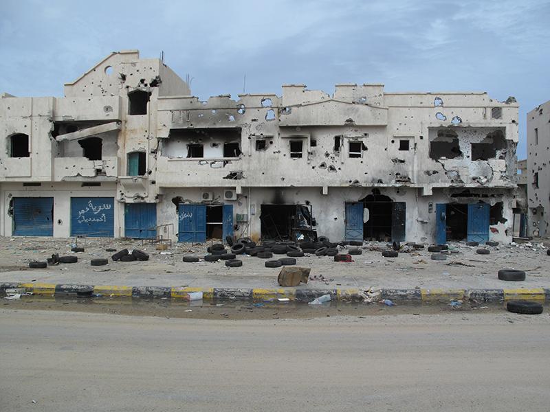 Edifici ridotti a scheletri