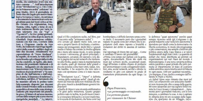 Interview at Corriere of Novara