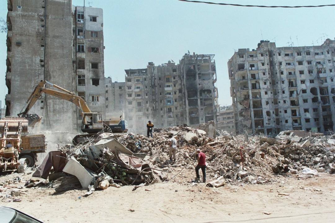 I quartieri sud di Beirut, come un terremoto