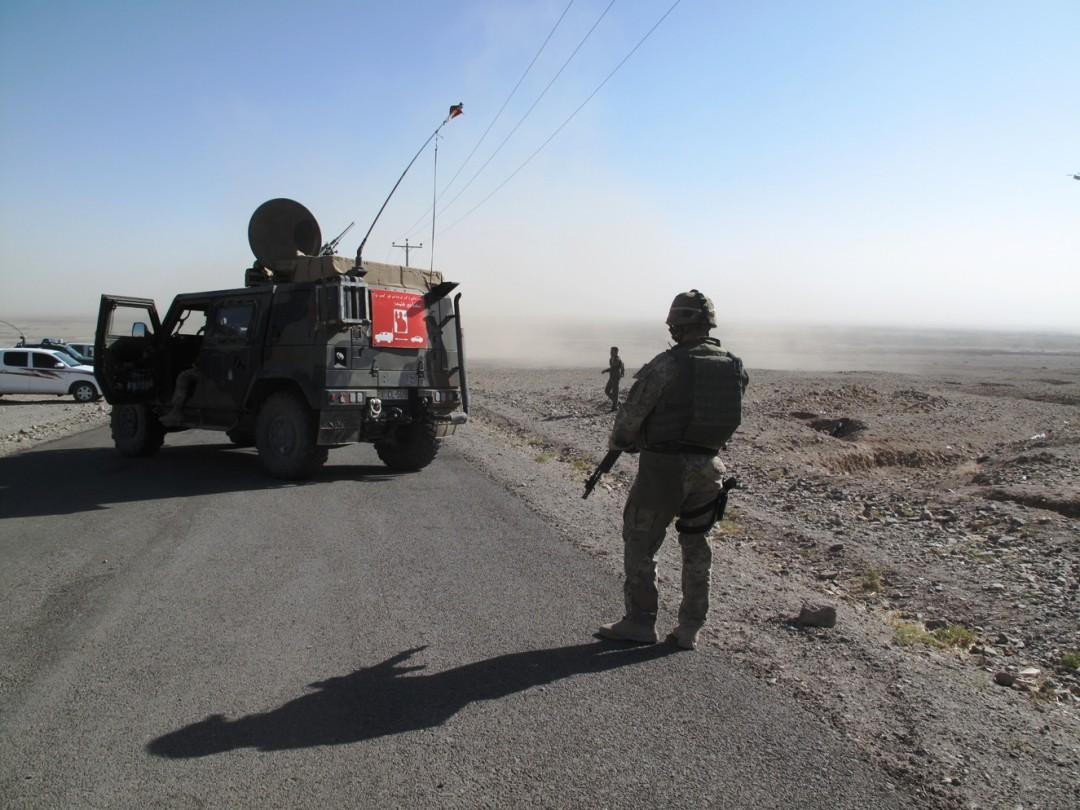 Un posto di controllo a sud di Herat