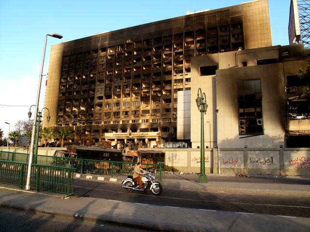 La sede del partito di Mubarak