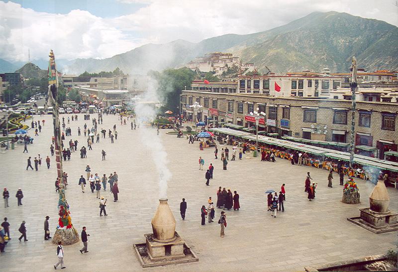 Lhasa dall'alto