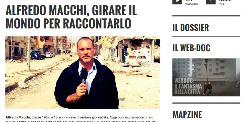 """""""Girare il mondo per raccontarlo"""": intervista su Magzine."""